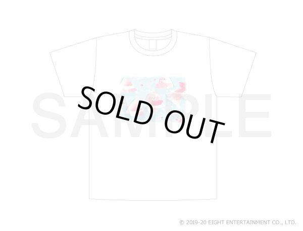 画像1: ぽてぽてこぶたちゃん Tシャツ(すいかでぷかぷか)※Mサイズのみ (1)